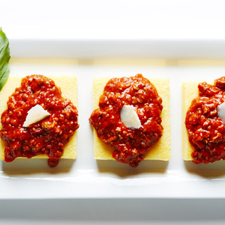 Bolognese-Smothered Parmesan Polenta
