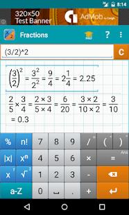Fraction Calculator + Math Screenshot