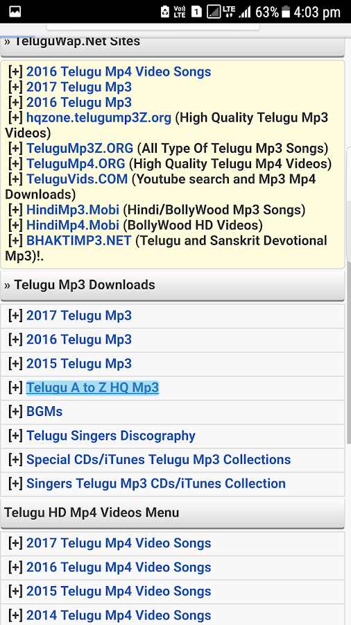 Telugu Songs Wap- screenshot