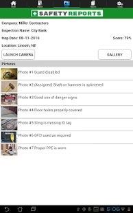 Safety Reports Inspection App- screenshot thumbnail
