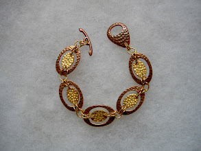 Photo: copper & gold-filled link bracelet