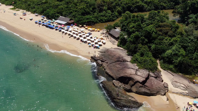 Praia do Prumirim em Ubatuba