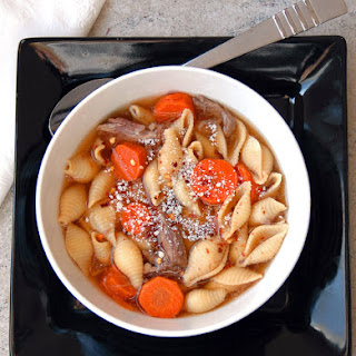 Italian Beef Soup with Pasta Shells