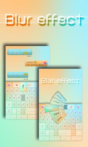 ブラーエフェクトキーボード