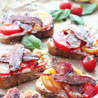 Open Faced Tomato Sandwich with Bacon and Balsamic Reduction Recipe