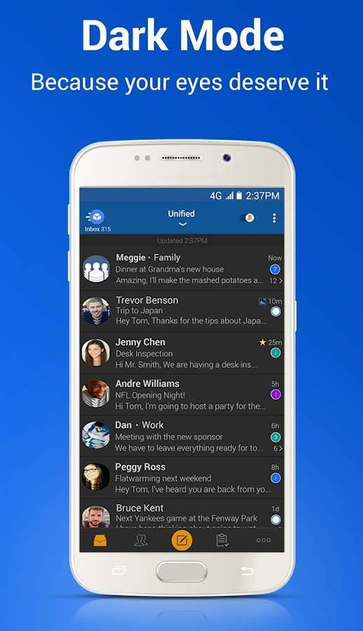 Blue Mail - Email Exchange- screenshot