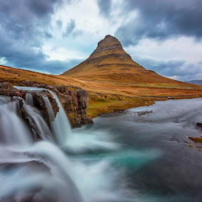 Cloudy Morning in Kirkjufell by Rashid Ramdan - Landscapes Mountains & Hills ( clouds, canon, kirkjufell, iceland, nature, long exposure, landscape, snaefellness, photography, west )
