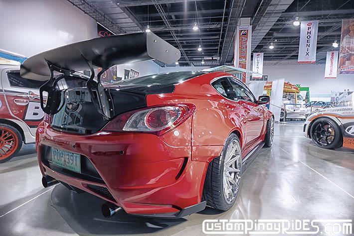 Hyundai Genesis Coupe Amuse Vestito Rocket Bunny Atoy Customs Trans Sport Show Philip Aragones pic1