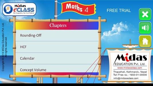 MiDas eCLASS Maths 4 Demo screenshot 1