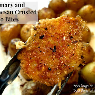 Rosemary and Parmesan Crusted Potato Bites.