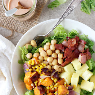 BBQ Sweet Potato, Chickpea and Bacon Salad