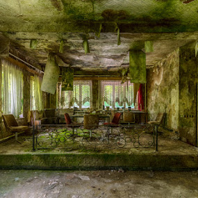 fungus paradise by Marlou Nijpels - Buildings & Architecture Decaying & Abandoned ( urban, old, urbex, green, fungus, hotel, exploring, decay, abandoned )