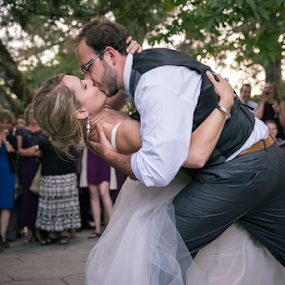 The Kiss  by Michael Keel - Wedding Other ( first dance, dip, vineyards, wedding, forest, bride, groom, napa )