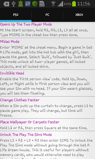Unofficial Cheats For The Sims