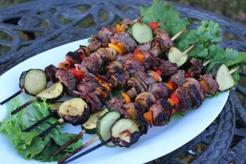 """Grilled Steak Kabobs """"This steak kabobs recipe is super simple and delicious!..."""