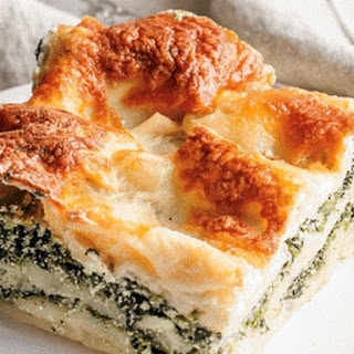 Spinach alfredo Lasagne