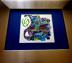 Photo: 009 YOUNG PEGASUS ~ ЮНИЙ ПЕГАС Luba Bilash original ~ mixed media matted & framed $200