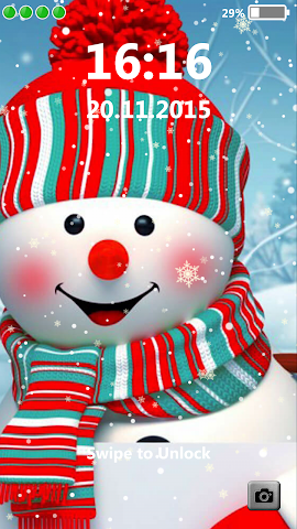 android Snowman Lock Screen Screenshot 0
