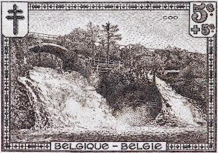 "Photo: ""Les sites"" (2-12-1929). Cascade de Coo."