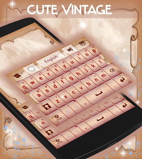 無料个人化Appのキュートなヴィンテージキーボード 記事Game