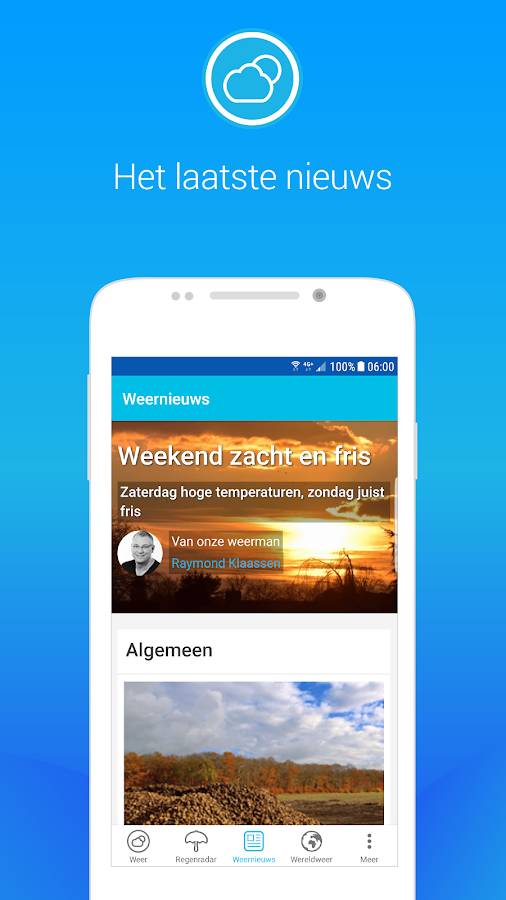 Weerplaza - complete weer app- screenshot