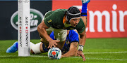 Cheslin Kolbe became only the second South African rugby player to score a try in the Rugby World Cup final. Makazole Mapimpi made history when he became the first player to do so for the Springboks in the 2019 Final.