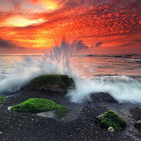 Incredible Morning Sky by Agoes Antara - Landscapes Waterscapes