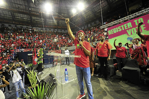 EFF leader Julius Malema told supporters that whites took land
