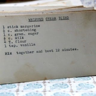 Whipped Cream Icing.