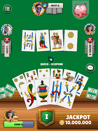 Scopa - Free Italian Card Game Online apkslow screenshots 9