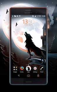 Night of The Wolf Xperia Theme- screenshot thumbnail