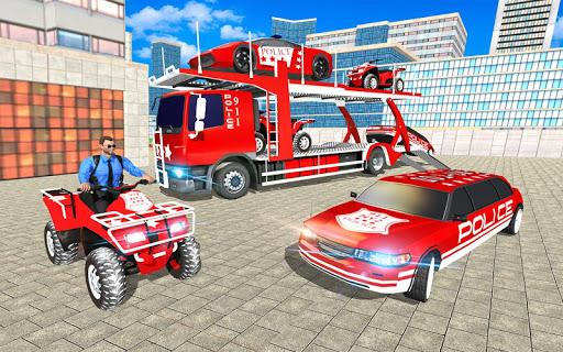US Police Quad Bike Car Transporter Games 1.0.2 screenshots 5