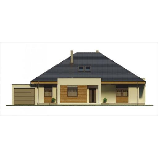 Alabama 2 wersja C z pojedynczym garażem - Elewacja przednia