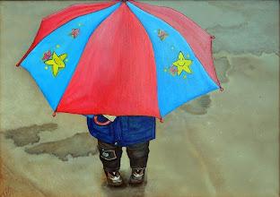 Photo: Наталия Хубеджева, Кажется дождь начинается, 70смх50см, холст, масло,
