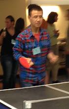 Photo: Penghao playing ping pong at the GRC