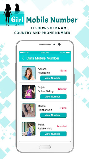Girls Mobile Number : Girl Friend Search 1.0 screenshots 2