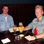 beers at the New York Bar with my buddy Ronnie from Sweden in Tokyo, Tokyo, Japan
