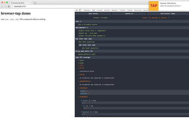 Browser TAP