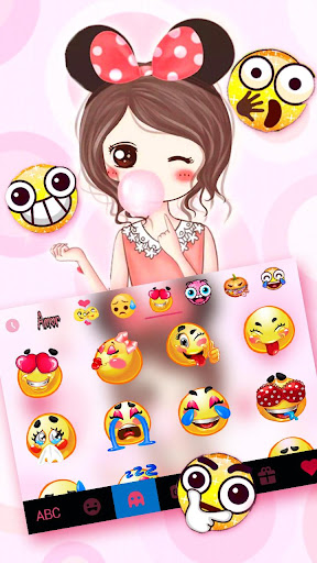 minny bow girl keyboard theme screenshot 3