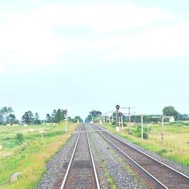 Railway Track by Jaliya Rasaputra - Transportation Railway Tracks (  )