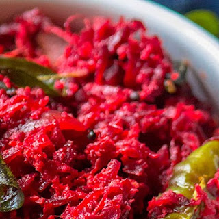 Beetroot Thoran / Beetroot Stir fry with coconut