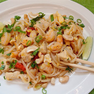 Hot-and-Sour Shrimp and Chicken Stir-Fry.