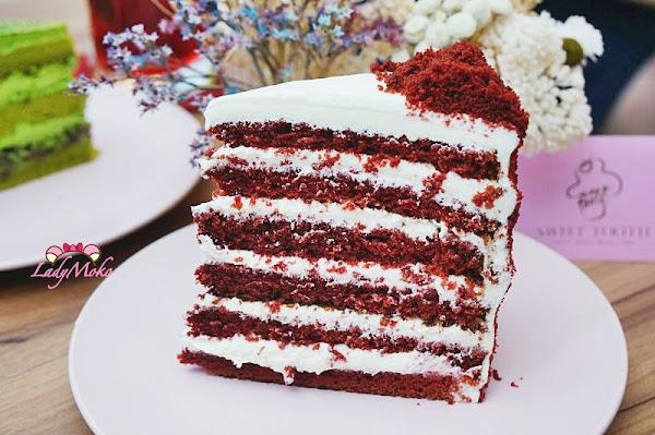 信義安和下午茶甜點》Sweet tooth,超好吃紅絲絨與抹茶紅豆蛋糕,大份量超滿足,台北信義世貿