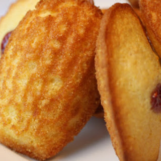 80-Cent Citrus Corn-Muffin Madeleines with Raspberry Confiture.
