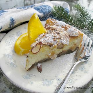 Orange And Almond Ricotta Cheesecake