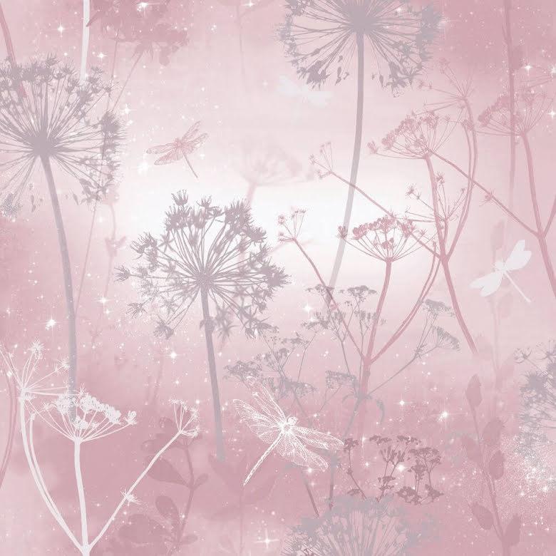 Arthouse Fantasia 503296, Tapet med trollsländor, Rosa