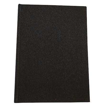 Anteckningsbok Tyg A4 svart