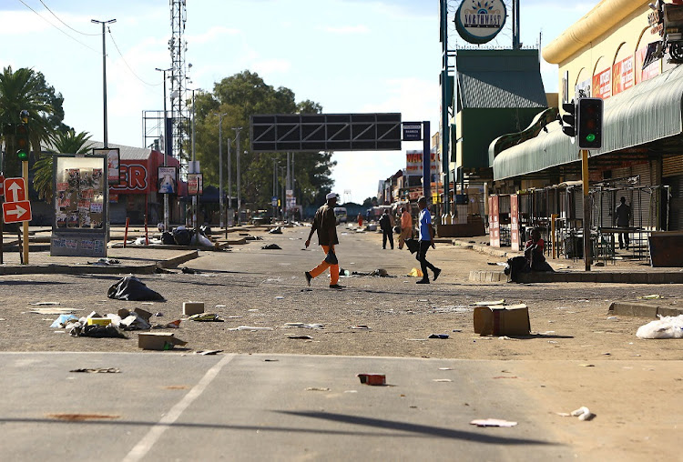 Mahikeng 'relatively' calm after violent protests.