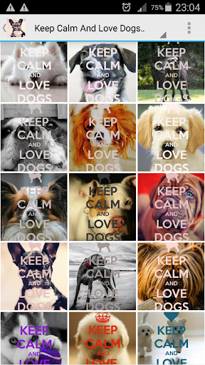 Keep Calm Love Dogs Wallpapers