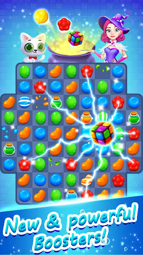 Candy Witch - Match 3 Puzzle Free Games 12.8.3972 screenshots 1